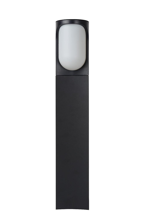 Lucide Lugo - Lámpara de pie exterior - 12,5 cm de diámetro - LED - 1 x 8 W 3000 K - IP44 - Negro: Amazon.es: Iluminación