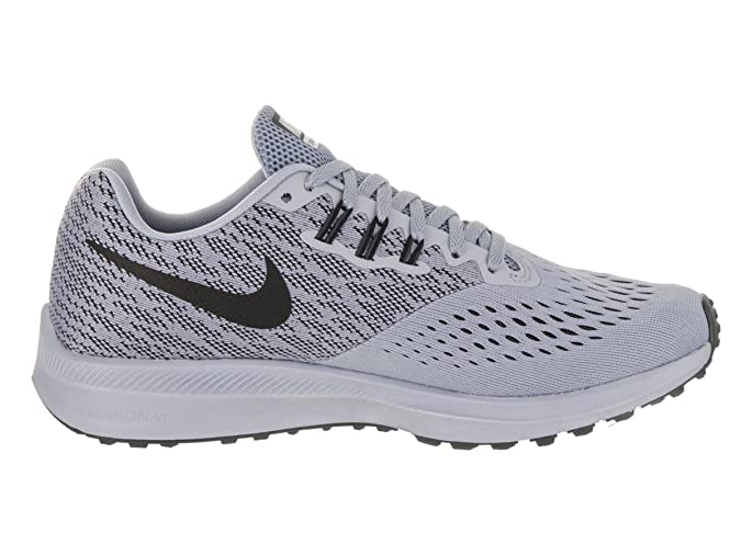 f289cb70a5328 NIKE Women's Air Zoom Winflo 4 Running Shoe Glacier Grey/Black-  Anthracite-White 9