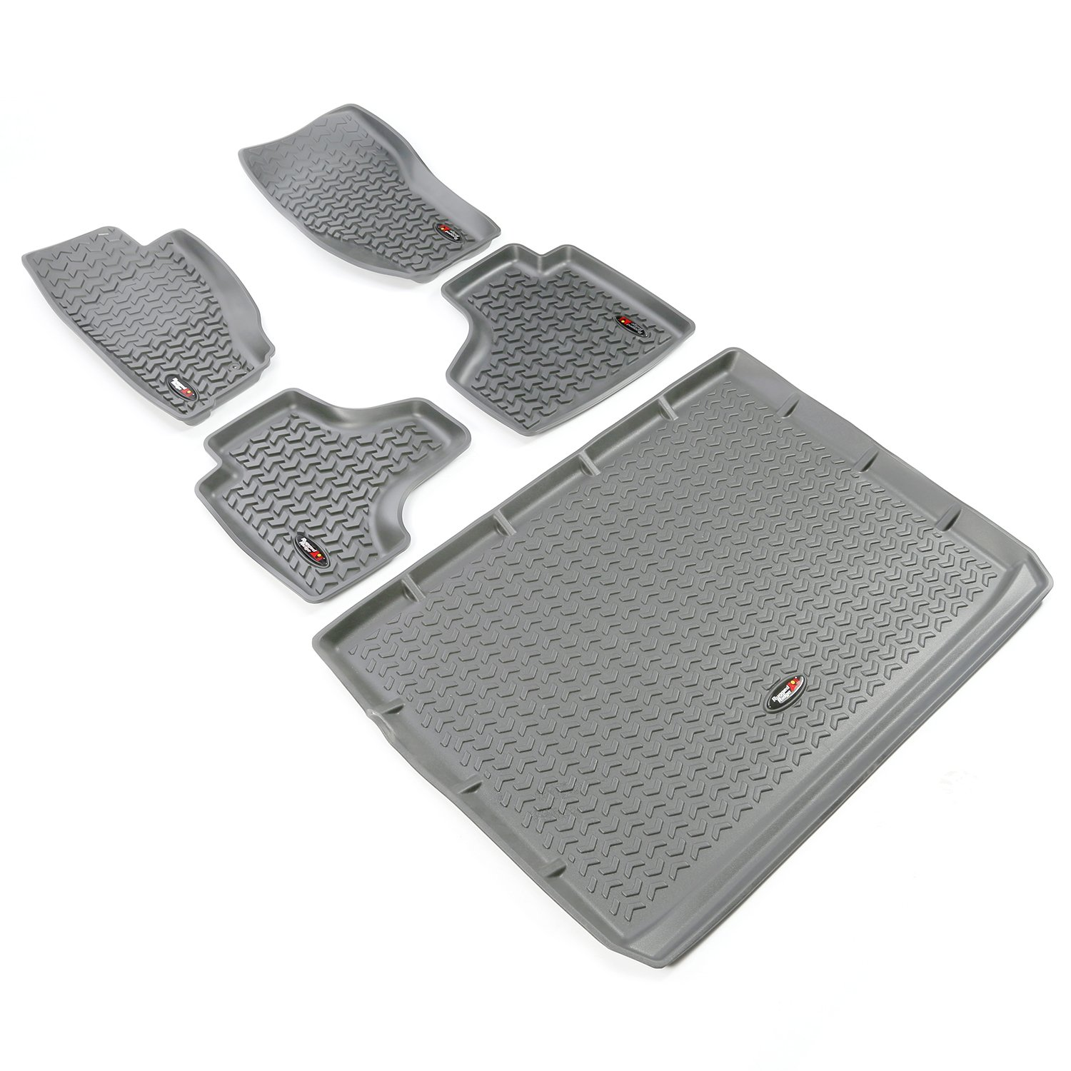 Rugged Ridge All-Terrain 14920.31 Grey Front Row Floor Liner For Select Jeep Liberty Models
