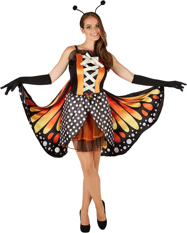TecTake dressforfun Disfraz de Mariposa Grande de Cobre para Mujer ...