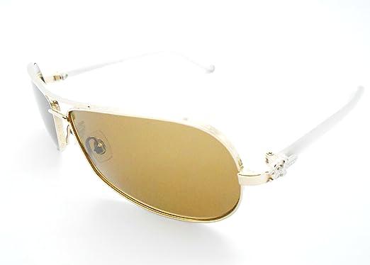 551a34e23170 Amazon.com  Chrome Hearts Red W GP Aviator Style Sunglasses  Clothing