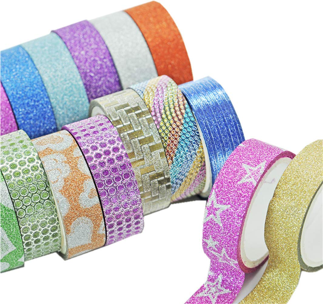JUSLIN 40 Rolls Washi Tape, Great Crafts for DIY, Scrapbooking, Gift Box, Photo Album Decorations Versatile Tapes JUSLIN CA