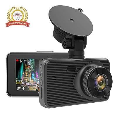 Dash Cam, FANTASON Dash Camera for Cars 1080P FHD 3.0 Inch LCD Car Camera Recorder Super Night Vision F1.4 LargeAperture 170° Wide Angle G-Sensor Parking Monitor Motion Detection Loop Recording: Car Electronics