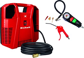 Oferta amazon: Compresor Einhell TH-AC 190 Kit (1.100W, potencia de extracción: 190 l/min, presión de trabajo máxima: 8bar)