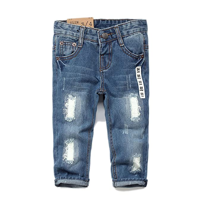 Kidscool Baby & Toddler Ripped Holes Slim Soft Jeans