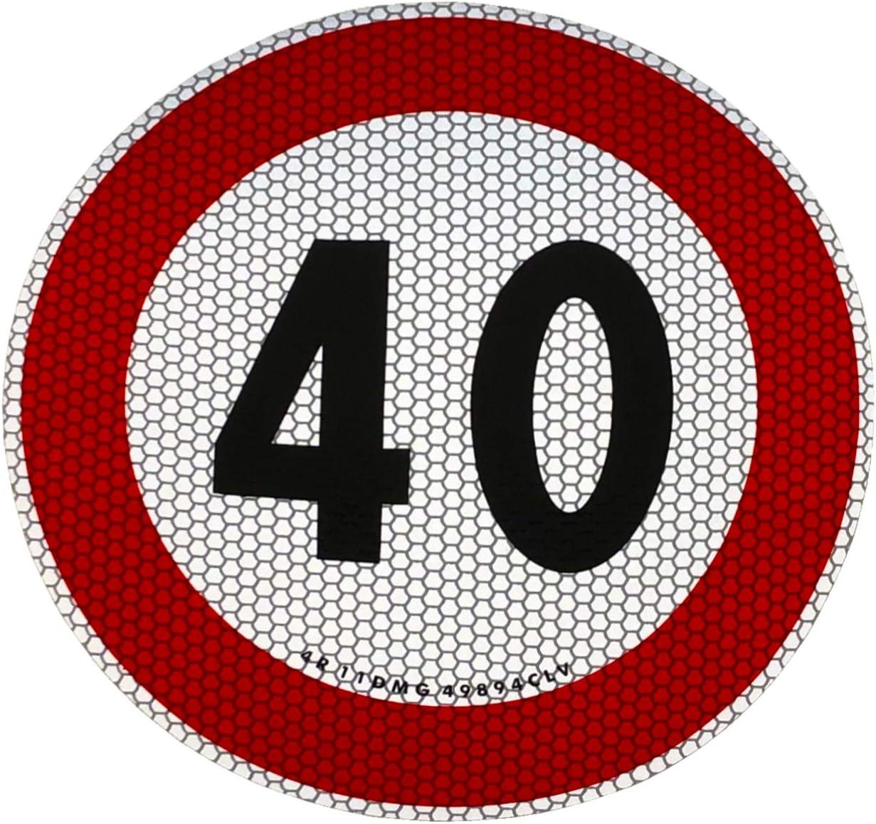 Quattroerre 31839 Contrassegno Limite velocit/à 40 km//h Adesivo Omologati EU
