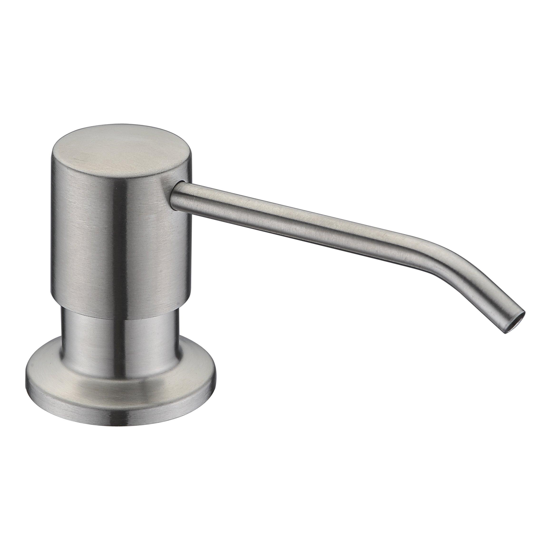 WENKEN Sink Soap Dispenser Best Stainless Steel Built in Pump Kitchen Soap Dispenser Large Capacity 17 OZ Bottle Brushed Nickel