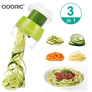 Adoric 3-in-1 Heavy Duty Veggie Spiral Cutter