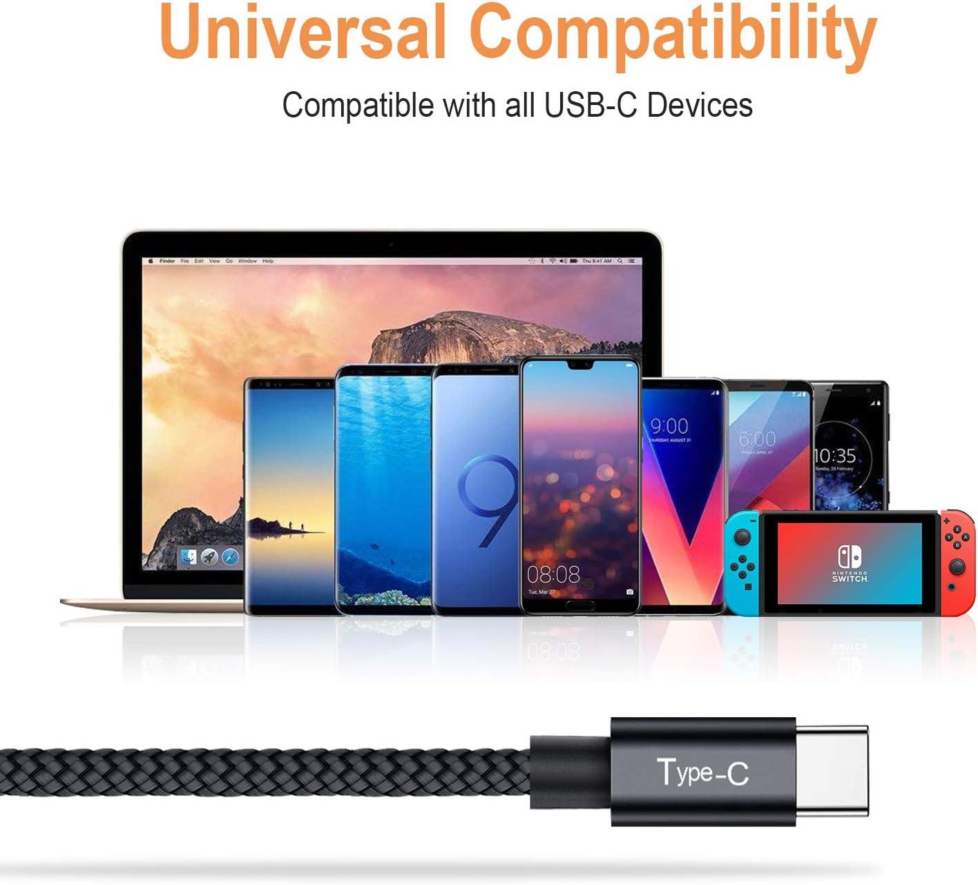 Avoalre Cable USB Tipo C 3× Cable Tipo C Nylon Carga Rápida para Samsung Galaxy S8/S9, Note 8, Huawei P9/P20/P10: Amazon.es: Electrónica