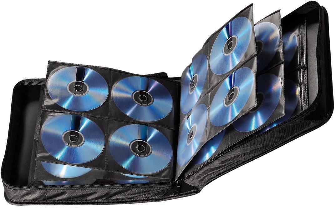 364e43 hama cd tasche f r 208 cds dvds blu rays mappe zur aufbewahrung schwarz ebay. Black Bedroom Furniture Sets. Home Design Ideas