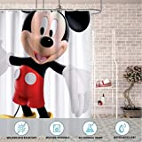 DISNEY COLLECTION Shower Curtain Cartoons Disney Mickey Mouse Bathroom Shower Curtains with Hooks