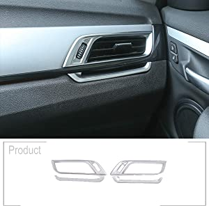 Car Dashboard Side Air Conditioning Outlet Vent Frame Trim 4pcs for BMW X1 F48 2016-2019 for BMW X2 F47 2018