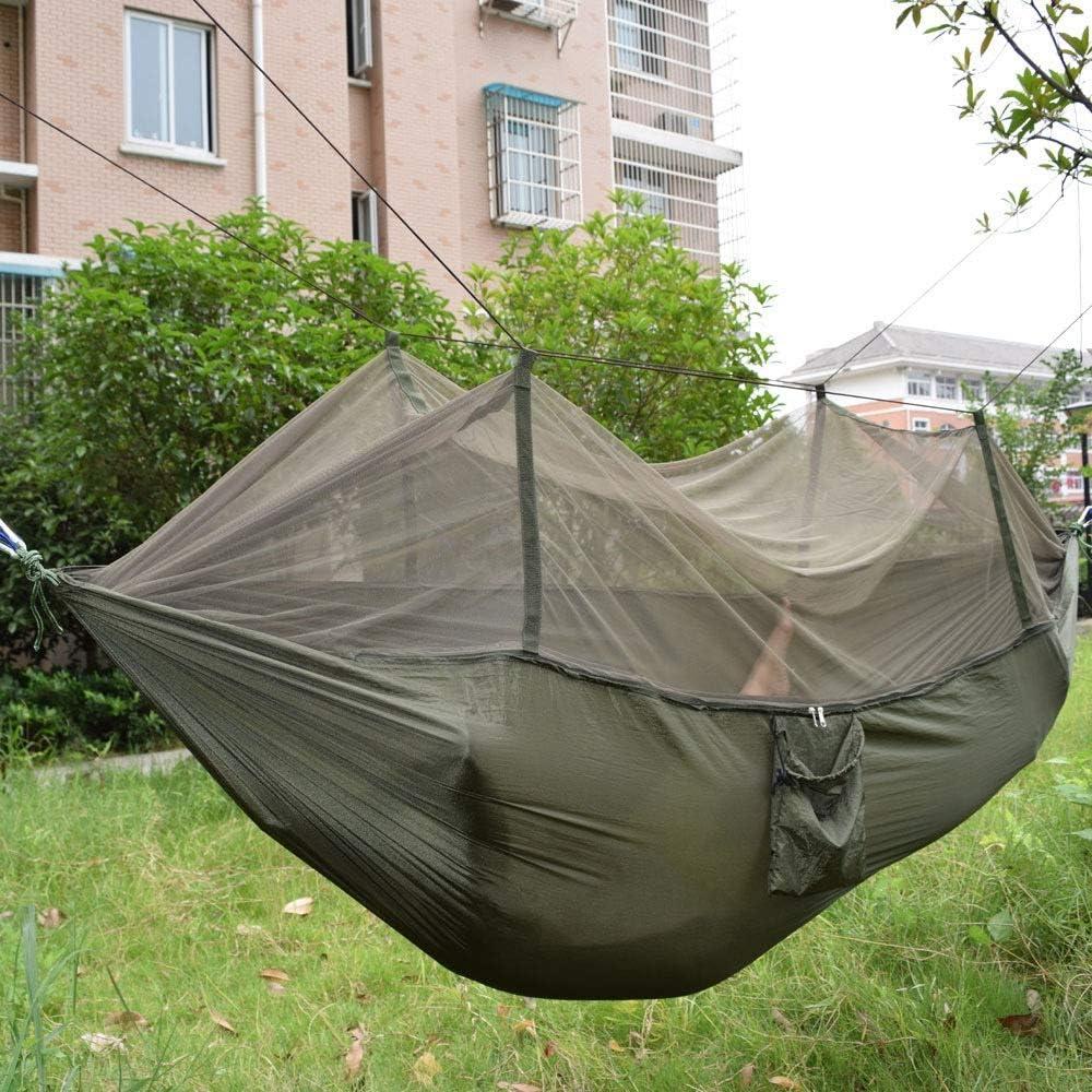Y-M-H Mosquitera Hamaca paracaídas de Tela a Prueba de Viento de Alta Resistencia de Nylon 250x135cm Hamaca portátil (Color : C)