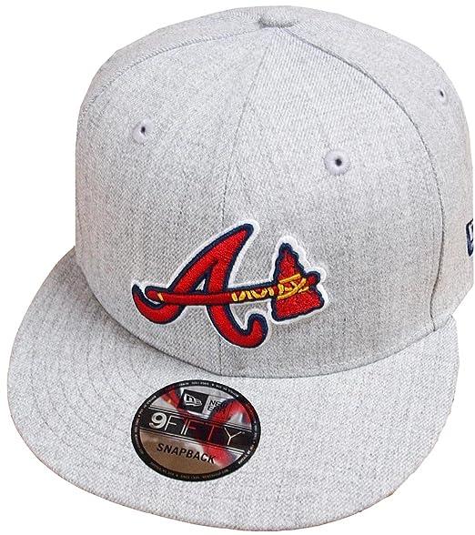 best sneakers 672a8 94080 New Era Atlanta Braves Heather Grey MLB Snapback Cap 9fifty Limited Edition   Amazon.co.uk  Clothing