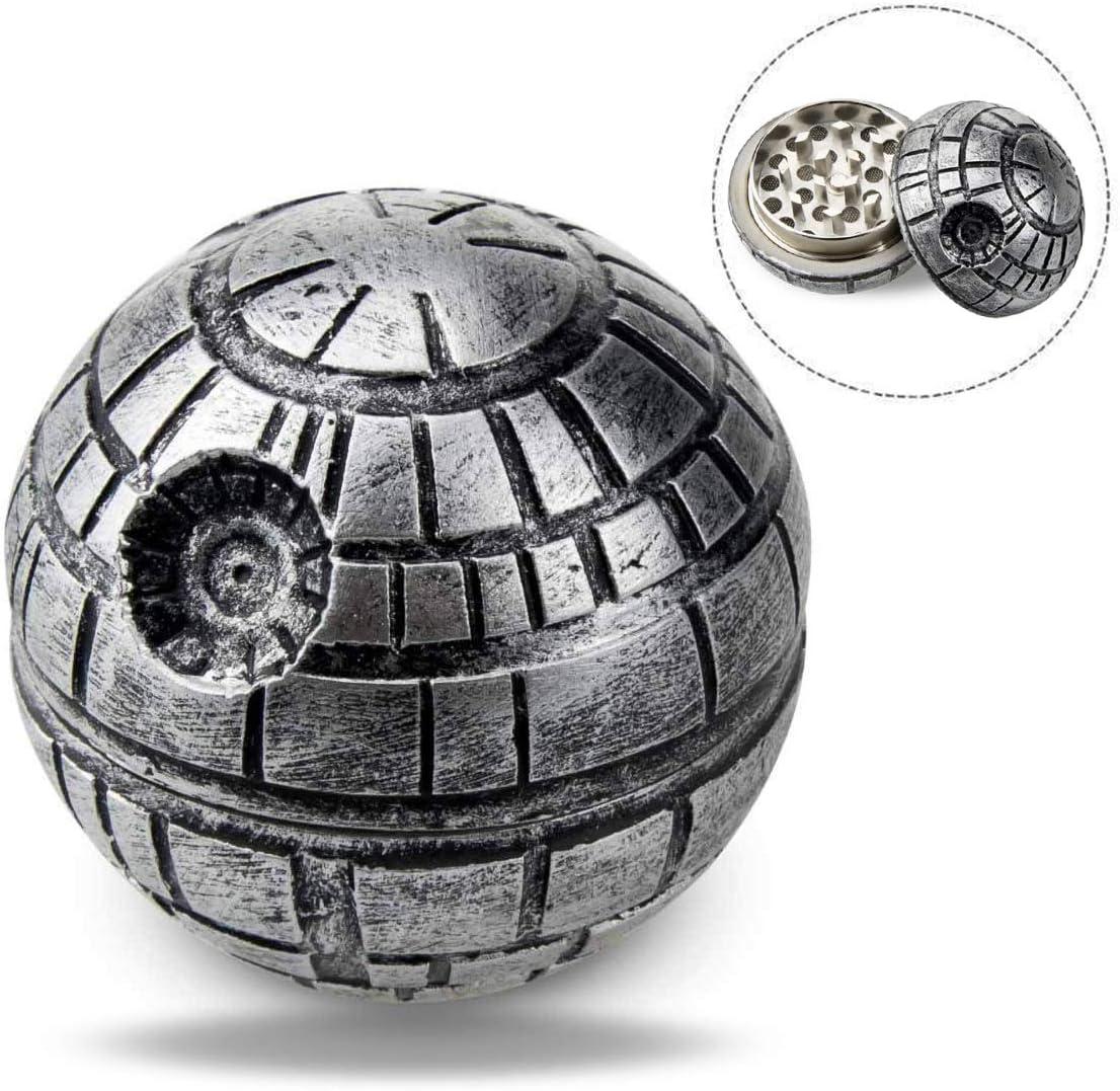 Xrten Grinder Metálico para Hierbas Especias y Tabaco, Diseño de la Estrella de la Muerte