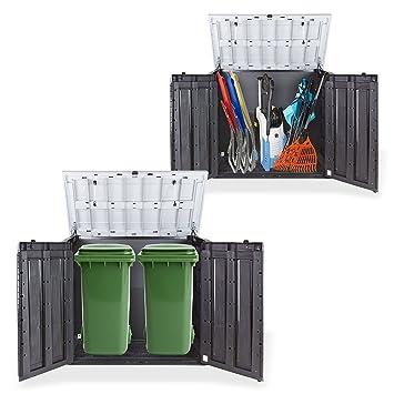 Eider Landgeräte GmbH koll Living Jardín Caja schöner-wohnen24 Dispositivo Caja Caseta para 2 x 240 litros contenedores Gratis Solo a Nosotros: Incluye ...