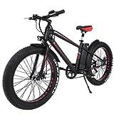 Befied Elektrofahrrad Mountainbike 26 Zoll Fat Reifen auf dem Schnee-Fett-Fahrrad, 6 Geschwindigkeit, 10AH 36V Lithium-Batterie Shimano + 250W bürstenlosem Motor