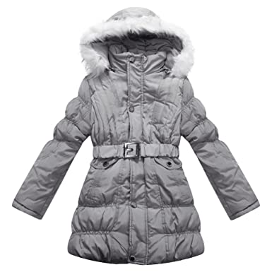 25afb468a Amazon.com  Richie House Big Girls  Padded Winter Jacket with Belt ...