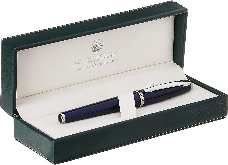 Medium Nib New In Box Monteverde Aldo Domani Black Lacquer Fountain Pen