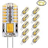 10 x G4 Ampoule LED, Jpodream 3.5W 48*3014 SMD LED Lampe, Blanc Chaud 3000K, 35W Ampoule Halogène équivalen, 300 LM, 360° Faisceaux, AC / DC 12V