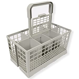 "Universal Dishwasher Cutlery Basket (9.45"" x 5.5""x 4.7"") fits Kenmore, Whirlpool, Bosch, Maytag, KitchenAid, Maytag, Samsung, GE, and more"