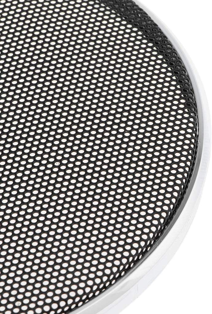 H HILABEE Auto Speaker Parts Car Audio Circle Sub Woofer Grille Black Steel Mesh Grill Cover Guard Protector Grille 5 inch 5 inch