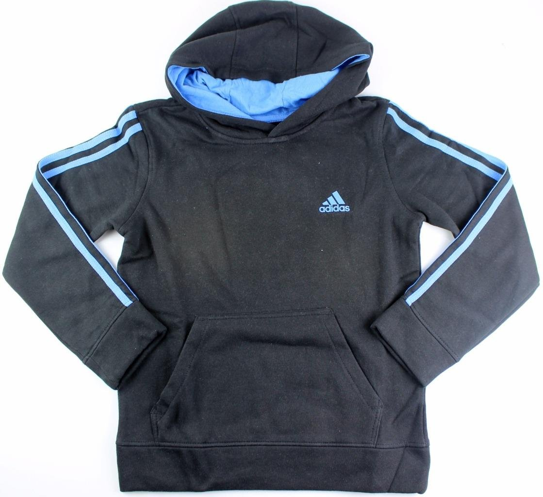 Outerstuff adidas Youth Fleece Collection (Youth Xlarge 18/20, Fleece Pullover Hoodie, Black/Blue)