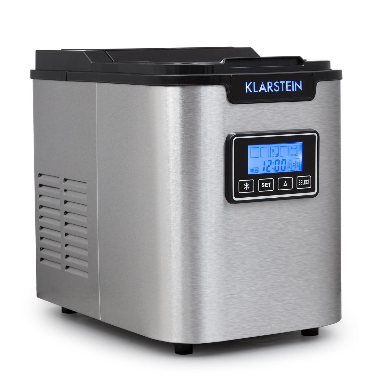 Klarstein Icemeister - machine à glaçons avec réservoir de 2, 2L et 3 tailles différentes (9 glaçons/10 minutes - 12kg/jour) - noir Icemeister-B
