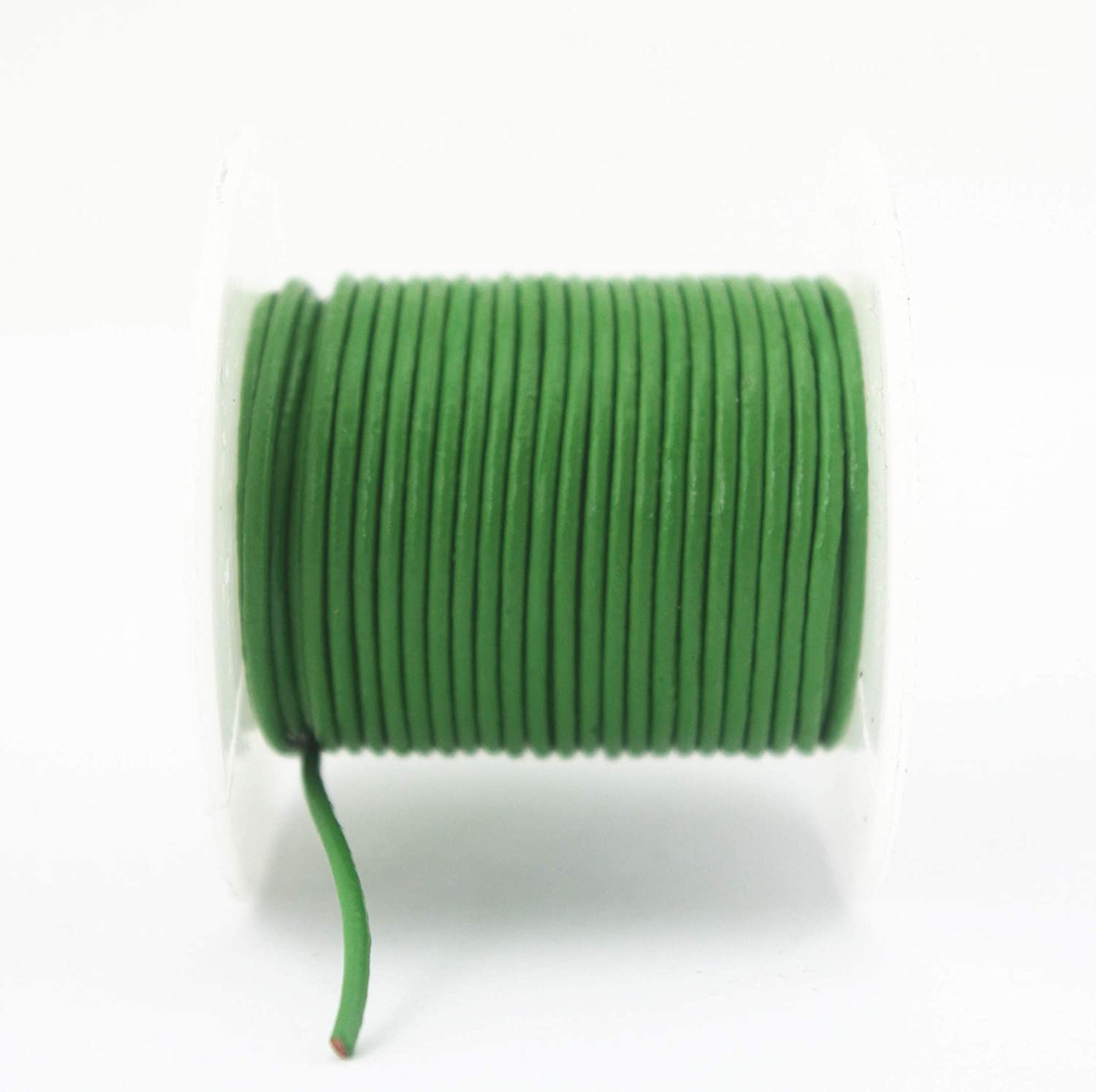 1.5mm, Natural Glory Qin Soft Round Genuine Jewelry Leather Cord Leather Rope Beading String