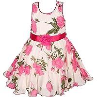 Wish Karo Girls Frock Dress - Georgette - (fr85PS)