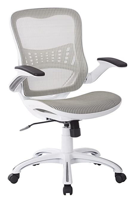 Amazon.com: Office Star Mesh Back U0026 Seat, 2 To 1 Synchro U0026 Lumbar Support  Managers Chair, White: Kitchen U0026 Dining