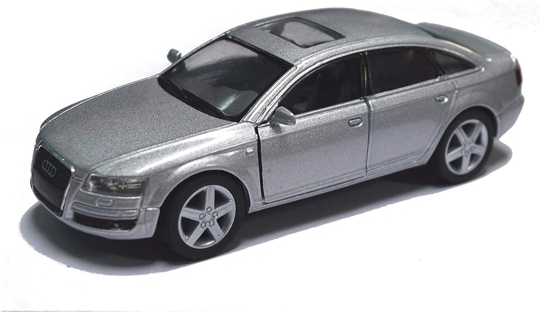 Audi RS6 Quattro 1:32 Metall Die Cast Modellauto Auto Spielzeug Weiß Pull Back