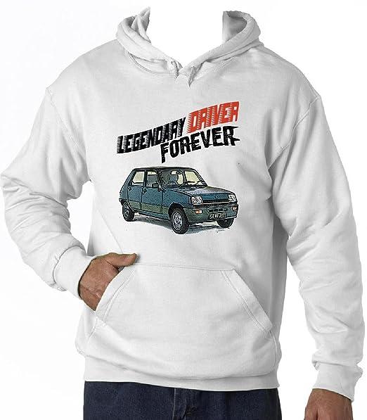 Teesandengines RENAULT 5 LEGENDARY DRIVER Sudadera con capucha T-Shirt Size Small