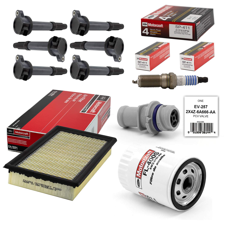 Amazon.com: Tune Up Kit 2007-2008 Ford Edge 3.5L V6 Ignition Coil DG520 SP411 FA1884 EV257: Automotive