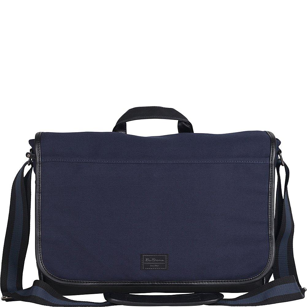 Ben Sherman Luggage Casual Rider Flapover Travel Messenger Bag (Navy)