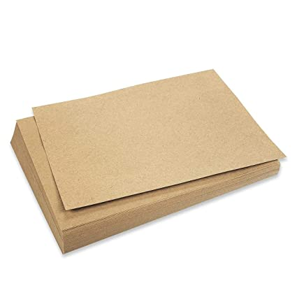 Brown Kraft Paper - 96 Pack Letter Sized Stationery Paper 8 5 x 11 Inches