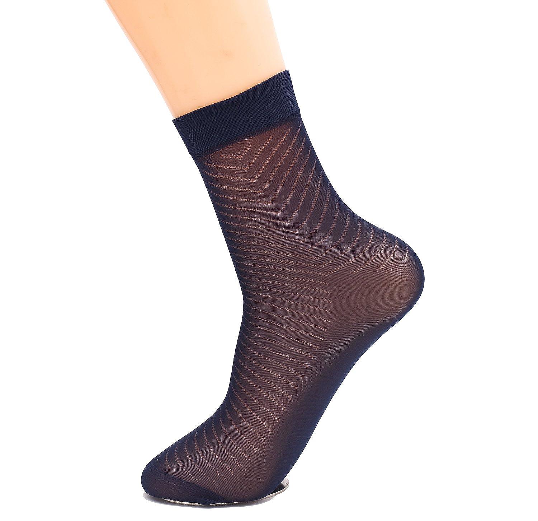 Adult Silk Socks Men Pure Silk Socks Ultrathin Crew Socks Womens Transparent Socks