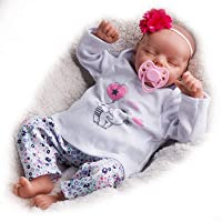 Jizhi 17 Inch Lifelike Reborn Baby Doll with Clothes and Toy Accessories Gift