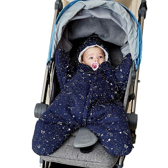 Bebé Saco de dormir 0-8 Meses Personalizado Diseño Forma de estrella Cremallera Frente Azul: Amazon.es: Bebé