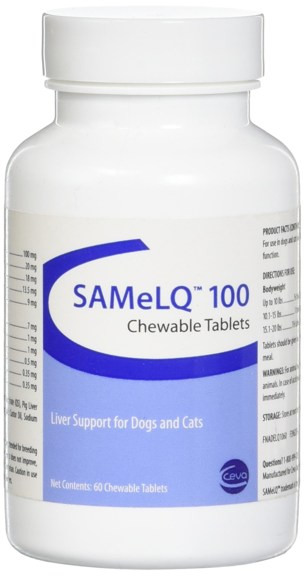 Sogeval 30 S-Adenosyl-100 (SAMe) Tablets for Dogs and Cats by Sogeval