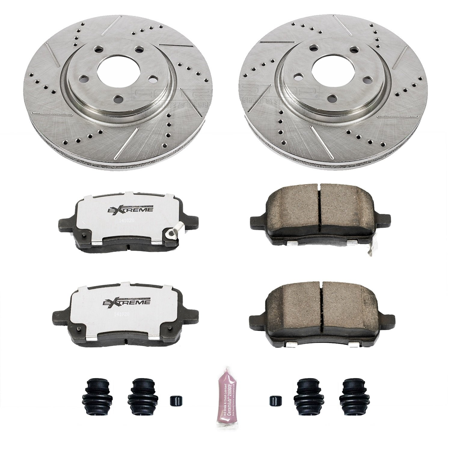 Power Stop K1610-26 1-Click Street Warrior Z26 Brake Kit