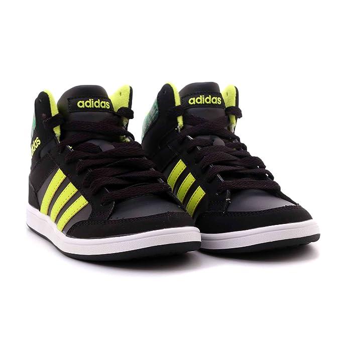 Adidas NEO Hoops Mid K CG5735 Größe 30 EU Schwarz (schwarz Kombi)