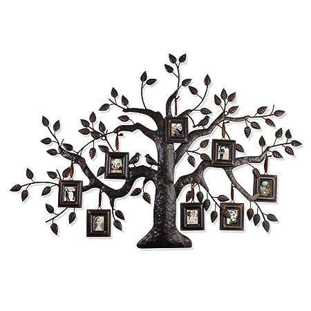 Elegan Brown Black Decorative Family Tree Photo Picture Collage