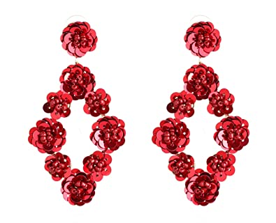 earring beads pearl lalbug com lhuadr stud flower product fabric jewelry earrings