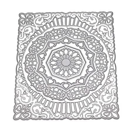 UK/_ Round Flower Lace Metal Cutting Die DIY Scrapbooking Paper Card Stencil Glit