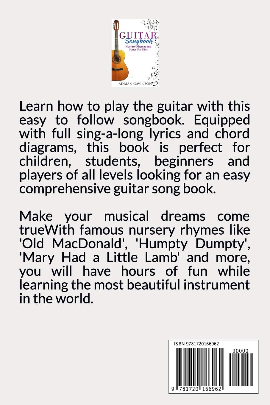 Amazon Com Guitar Songbook Nursery Rhymes And Songs For Kids
