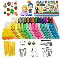 Pâte Polymère, 36 couleurs Safe et non toxique Pâte Polymère, DIY Clay Kit avec outils de modélisation, tutoriels et accessoires, meilleur cadeau pour les enfants