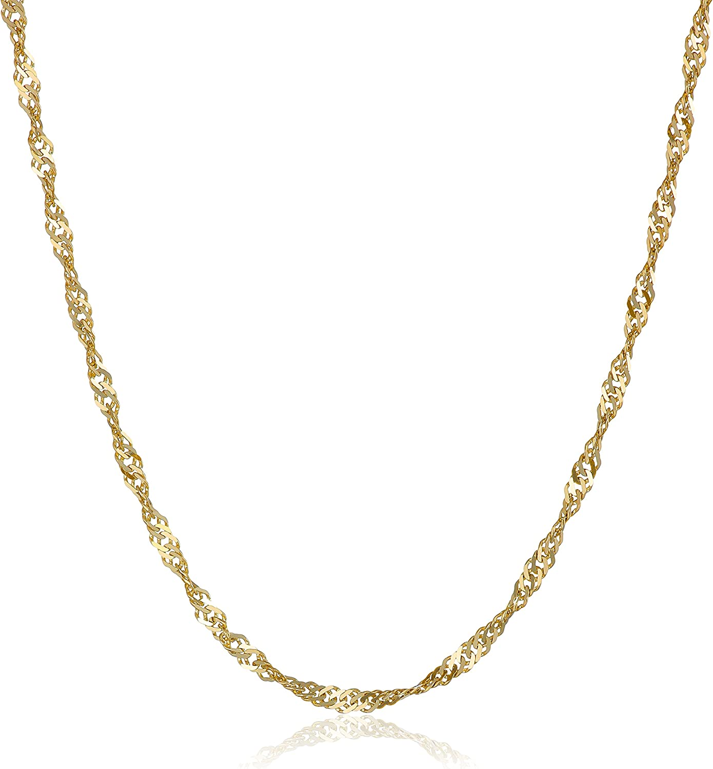 Women/'s European Style 10k Solid Gold Chain Necklace 2.0 mm