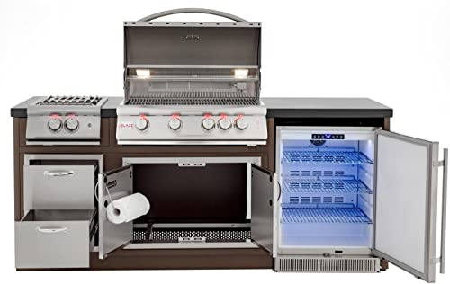 Blaze Complete BBQ Grill Island with BLZ-4LTE and Island Components BLZ-LTE-Island-LP , Propane