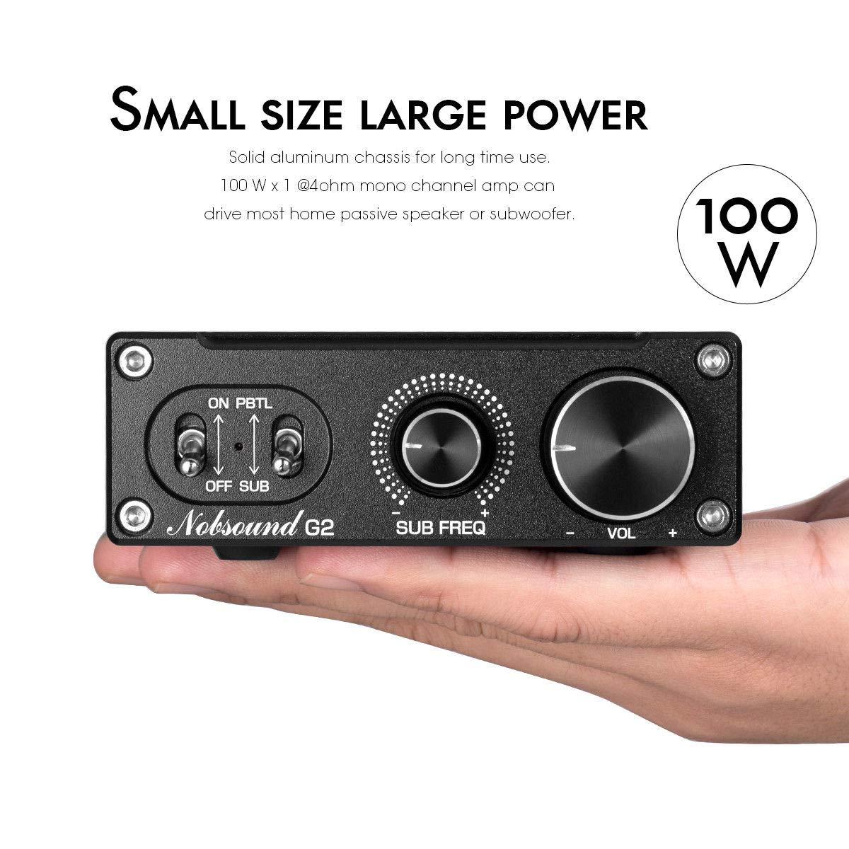 Amplificadores Nobsound G2 Amplificador de Potencia para subwoofer ...